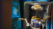 A long-necked droid robot on Star Tours: The Adventures Continue at Disney's Hollywood Studios