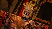 Authentic Tibetan-style décor warns potential passengers of the Yeti said to inhabit the Himalayas