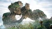 De magnifiques montagnes flottantes s'élèvent au-dessus de la Valley of Mo'ara à Pandora – The World of Avatar