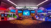 Colorful electronic kiosks await Guests at Project Tomorrow: Inventing the Wonders of the Future