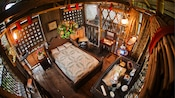 The master bedroom at Swiss Family Treehouse in Magic Kingdom park