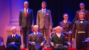 Eight U.S. Presidents on stage at The Hall of Presidents in Liberty Square at Magic Kingdom park