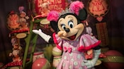 Minnie Mouse, as Minnie Magnifique, at Pete's Sideshow in the Storybook Circus area of Fantasyland