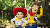 Woody and Jessie at Meet Toy Story Friends near Splash Mountain in Magic Kingdom park
