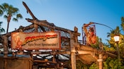 Entrance signs for the Indiana Jones Epic Stunt Spectacular at Disney's Hollywood Studios park