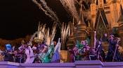 Disney Villain Characters performing near Cinderella Castle during Hocus Pocus Villain Spelltacular