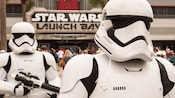 First Order Stormtroopers standing guard near 'Star Wars' Launch Bay at Disney's Hollywood Studios