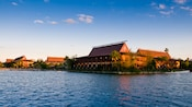 View from across the lake of Disney's Polynesian Resort
