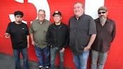 The 5 person rock band Los Lobos