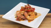 Sweet and Spicy Bush Berry Shrimp with peppers and onion