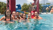 Guests enjoy the refreshing waters of the Fantasia pool