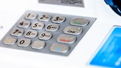 Close-up of an ATM keyboard