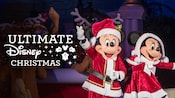 Logotipo de Ultimate Disney Christmas y Santa Mickey y la Sra. Claus Minnie