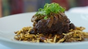Madeira-braised short ribs with trofie pasta, wild mushroom ragout and Truffle Crème Fraîche