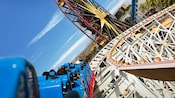 Watch Disney California Adventure Park whoosh past while riding this thrilling roller coaster.