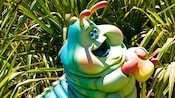 The head of Heimlich's Chew Chew Train, a Disney California Adventure attraction
