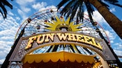 Big letters spell Mickey's Fun Wheel