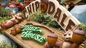 The sign for Chip 'n' Dale Treehouse featuring the cartoon chipmunks