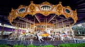The impressive fleet of King Arthur Carrousel horses and horses and horses