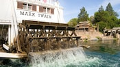 Printed above the paddle-wheel: Mark Twain, Disneyland U.S.A.