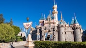 Majestic Sleeping Beauty Castle at Disneyland Park