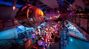 Space Mountain is a popular roller-coaster-like attraction at Disneyland park
