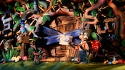 Brer Rabbit, with a Gone for Good sign over his door, begins his Splash Mountain adventure