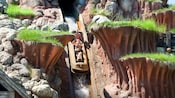 Guests get a thrill while dropping down the Splash Mountain flume