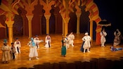 Disney's Aladdin – A Musical Spectacular performers on stage at the Hyperion Theater