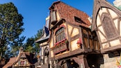 Charming old-world inspired buildings found in Fantasy Faire at Disneyland Park