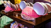 Bedazzled ears, embroidered with the words Disney Princess