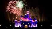 Be awed by the sights and sounds of seasonal fireworks over Sleeping Beauty Castle