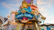 Ariel's Grotto Under the Sea Character Dining sign at Disney California Adventure Park
