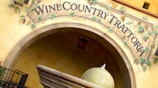 Entrance sign for Wine Country Trattoria
