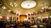 Diners enjoy a meal at The Golden Horseshoe quick-service restaurant