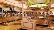 Inside Victorian-designed Plaza Inn restaurant