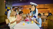 Host Chef Goofy joins a girl's family to help celebrate her birthday at Goofy's Kitchen