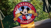 Sign for Pin Trading, Disneyland Resort
