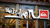 Sign for Quiksilver, a Downtown Disney District clothing shop