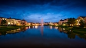 The canal and fountain at Disney's Saratoga Springs Resort & Spa