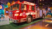 A fire truck at the Where's the Fire? Exhibit at Innoventions West