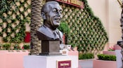A bronze bust of Walt Disney in Academy of Television Arts and Sciences Hall of Fame plaza