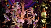 Audio-Animatronics singing birds on perches at Walt Disney's Enchanted Tiki Room