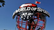 A welcoming globe-like sign for ESPN The Wide World of Sports Complex