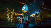 Sharks Bruce,  Anchor and Chum 'swim' toward Dory and Marlin at Finding Nemo - The Musical