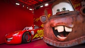 Lightning McQueen and Mater, the stars of the Disney film 'Cars', at Disney's Hollywood Studios