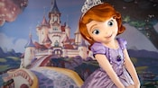 Princess Sofia the First poses at Animation Courtyard in Disney's Hollywood Studios