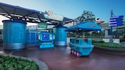 A recruitment center kiosk for Disney Phineas and Ferb: Agent P's World Showcase Adventure at Epcot