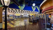 Inside World Premiere Food Court at Disney's All-Star Movies Resort