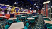 Inside the Intermission Food Court at Disney's All-Star Music Resort